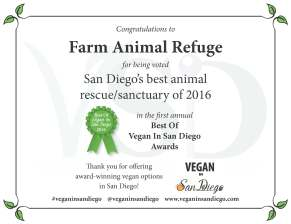 Best Rescue 2016 Farm Animal Refuge