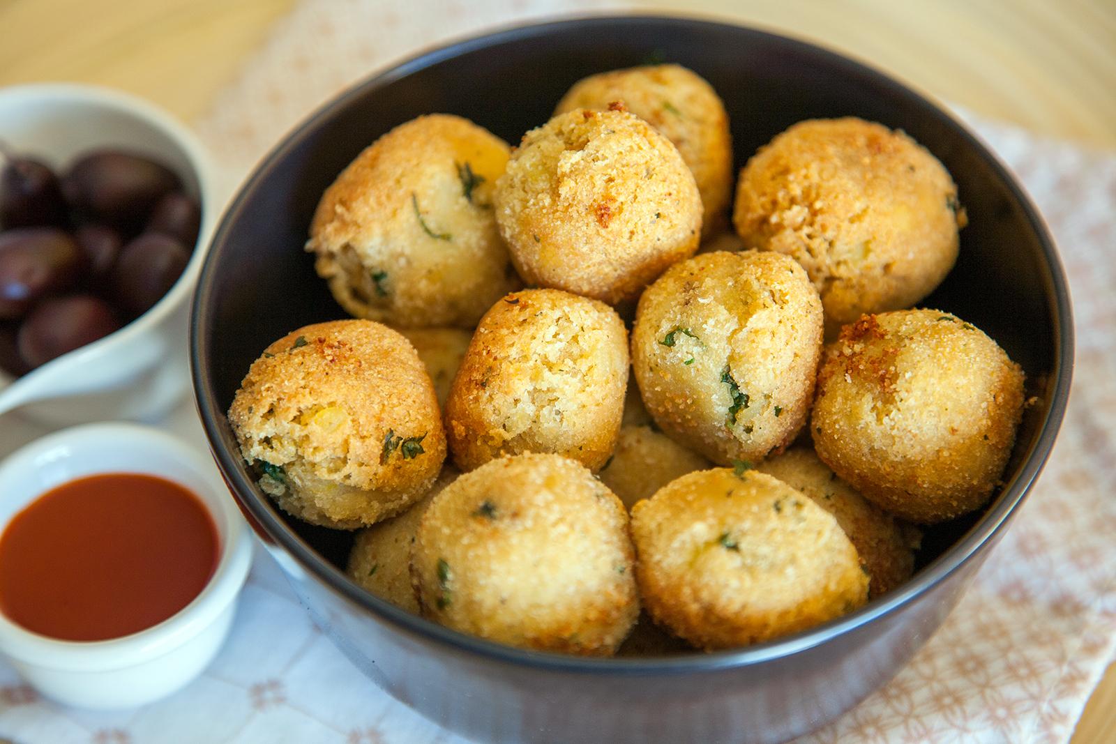 Bolitas de patata y Okara