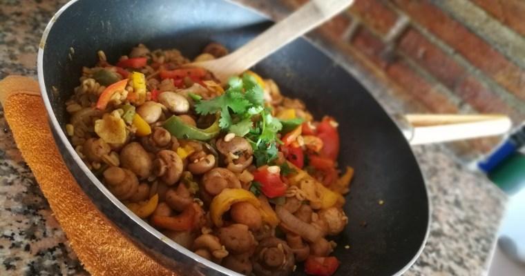 ¡Curry de verduras con Arroz integral en 15 minutos!