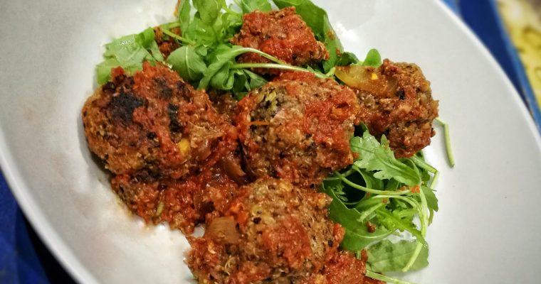 Albóndigas de quinoa y lentejas «Meatless Meatballs!»