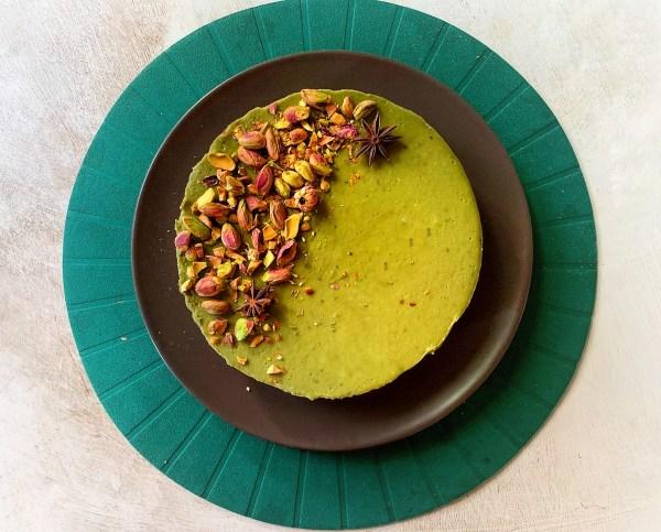 Tarta vegana de Té matcha ¡Espectacular y muy sencilla!