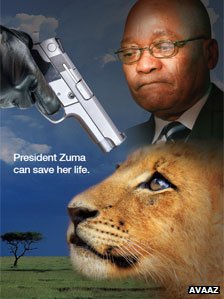 Save African Lions - Avaaz Poster