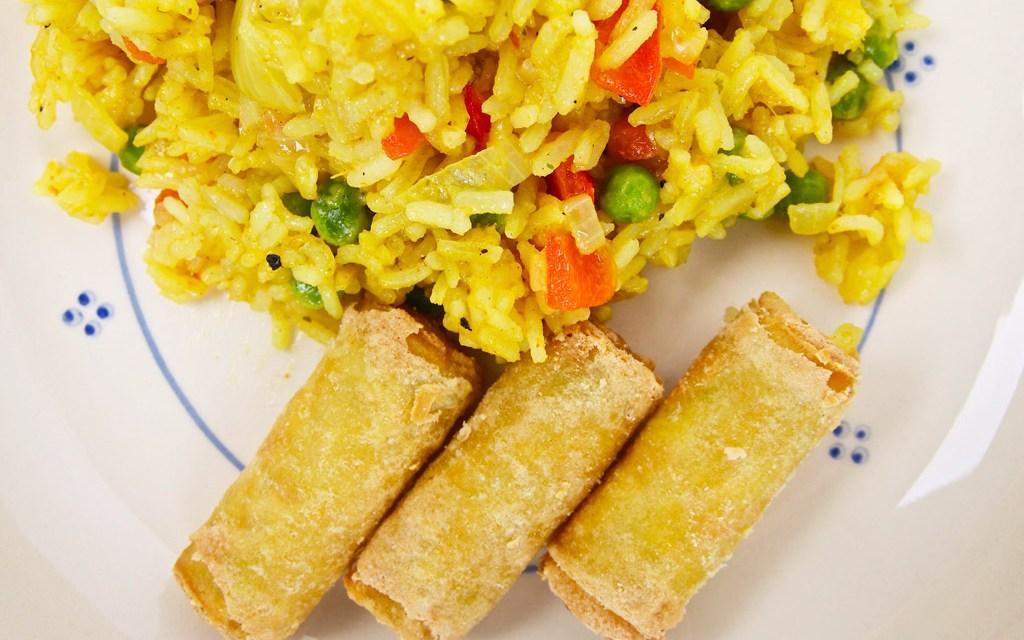 Rijstschotel met pit