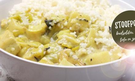 Stoofpotje met knolselder, venkel, tofu en zeewier