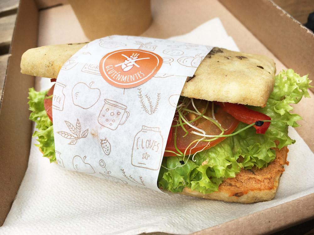 Tökmag vegan en glutenvrij broodje