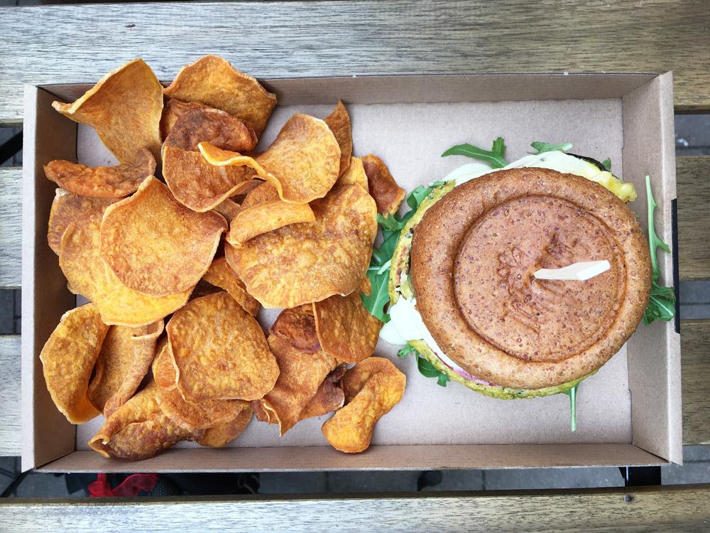 Tökmag vegan courgetteburger