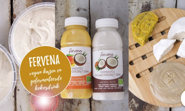 Fervena - vegan kaas en gefermenteerde kokosdrink