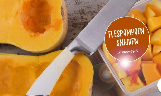Flespompoen schillen en snijden – zo doe je dat