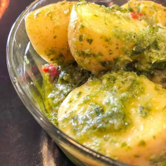 Batata Verde Vegana - Receita Veganizadores