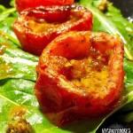 Tomates Assados Picantes Veganos - Receita Veganizadores