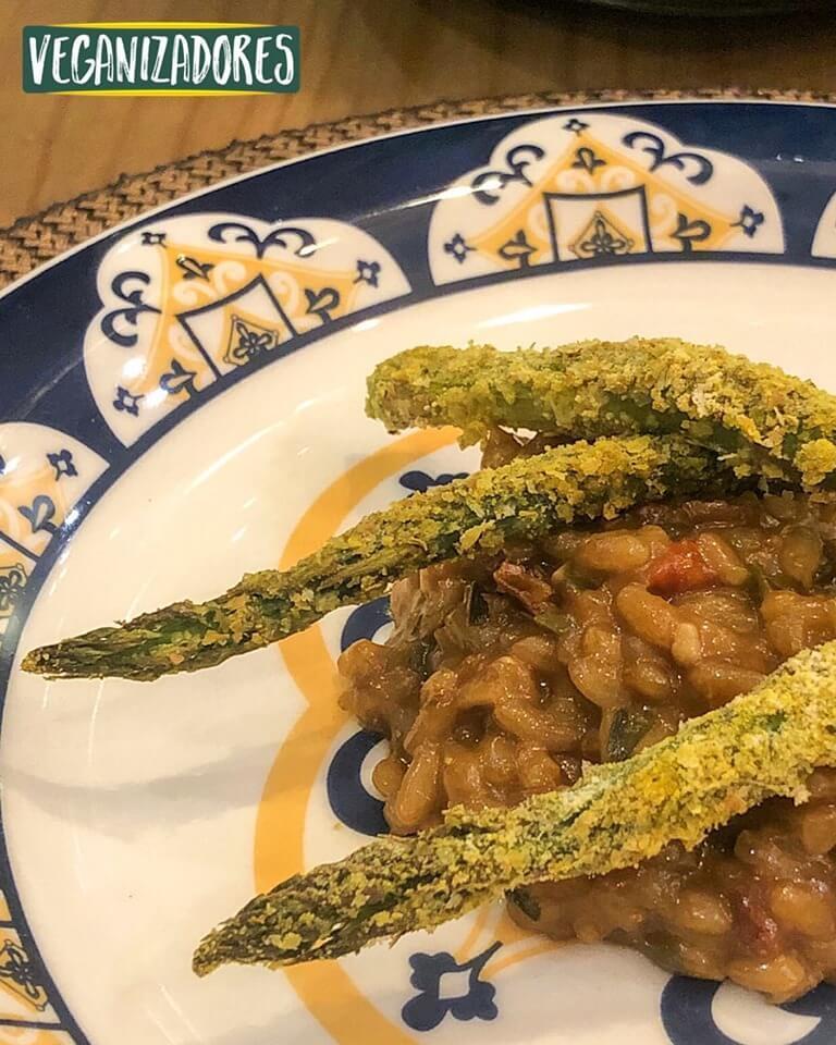 Aspargo Crosti Vegano - Receita Veganizadores