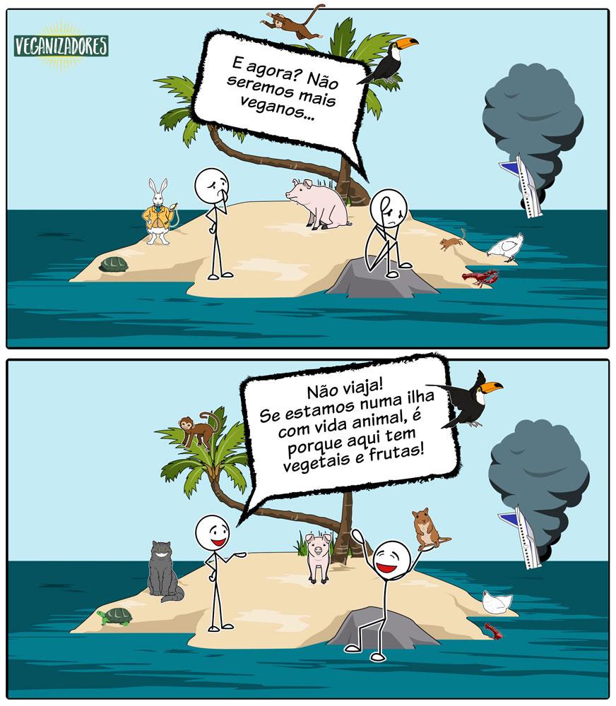 Ilha Deserta - Quadrinhos Veganos - Veganizadores