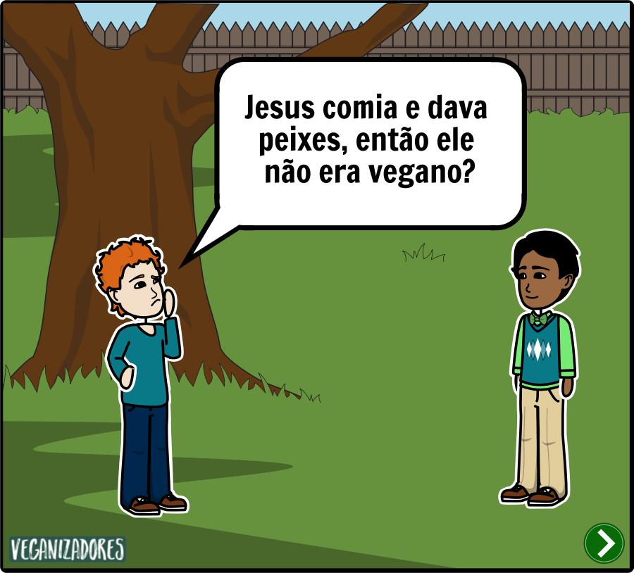 Jesus Vegano Veganismo - Quadrinhos Veganos