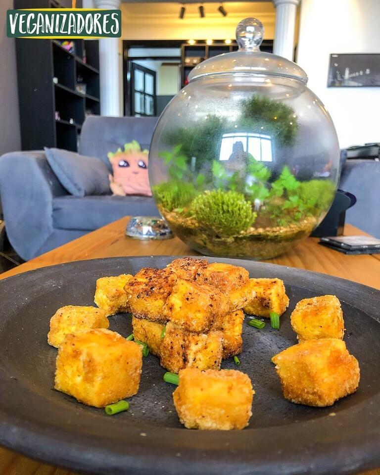 Tofu Empanado - Receita Vegana