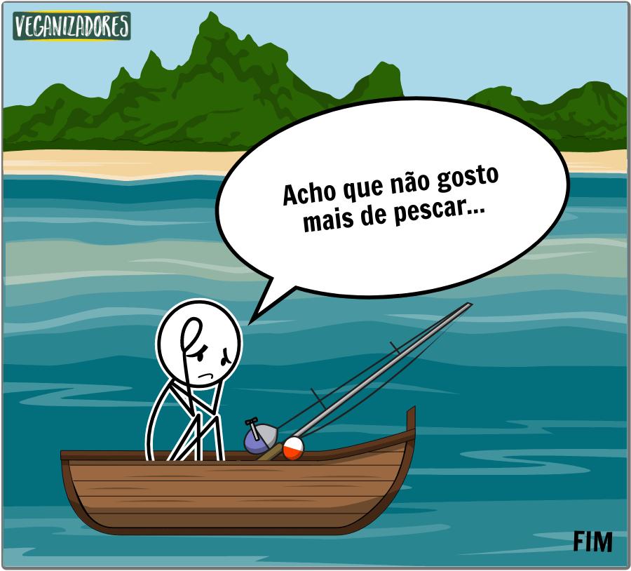 Pescar ou Não Pescar? Quadrinhos Veganos - Veganizadores - Fim