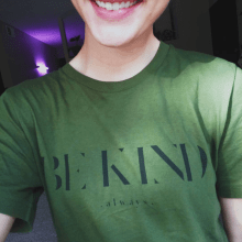The Be Kind Shirt | Veganized World | Sustainable clothing spreading the vegan message | Changing the world one vegan t-shirt at a time | x