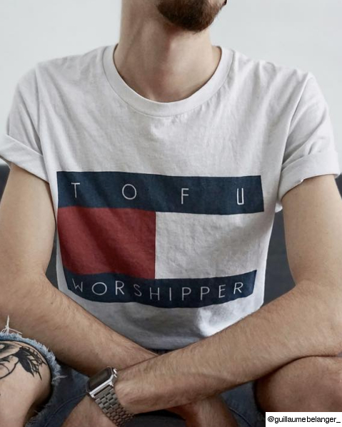 The Tofu Worshipper Men's Shirt by Veganized World Apparel