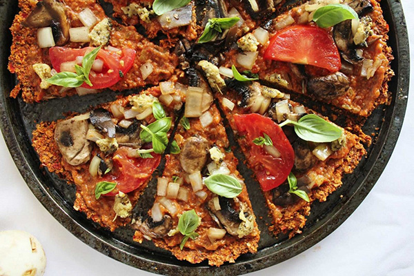 nyers vegán pizza