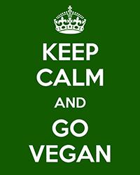 keep calm and go vegán