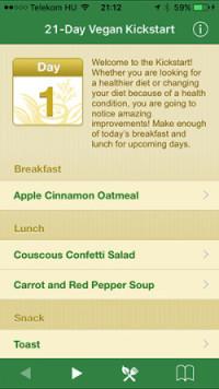 21 day vegan kickstart applikáció