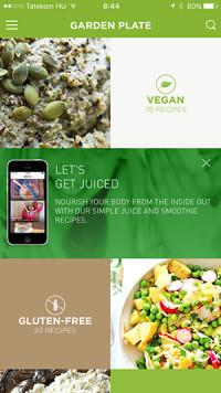garden plate vegan applikáció
