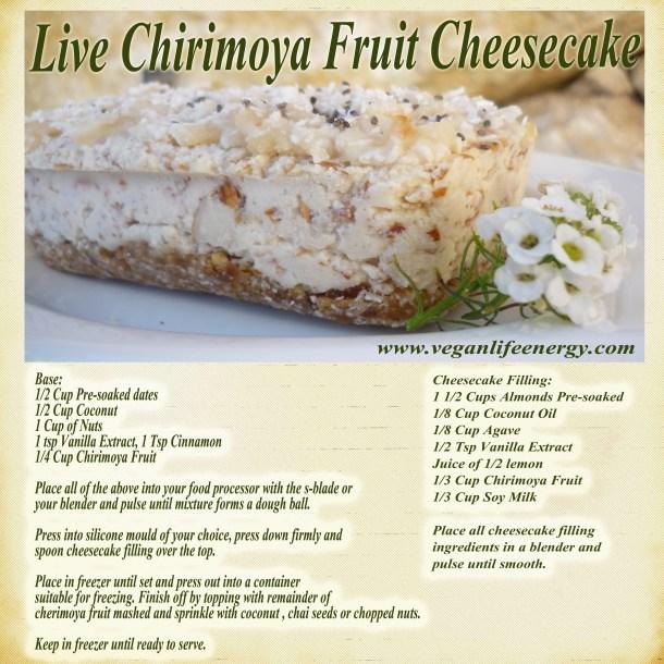 Live Chirimoya Cheesecake