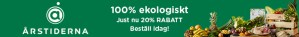 Vegansk matkasse med 20% banner på veganfoodie.se
