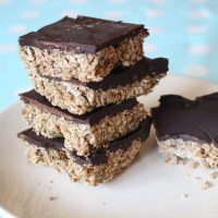 Chocolate Peanut-Butter No-Bake Squares