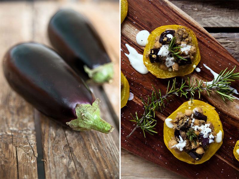 gelbe Beete auberginen rezepte vegan