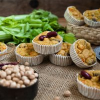 Herzhafte Muffins | vegane Proteinhappen