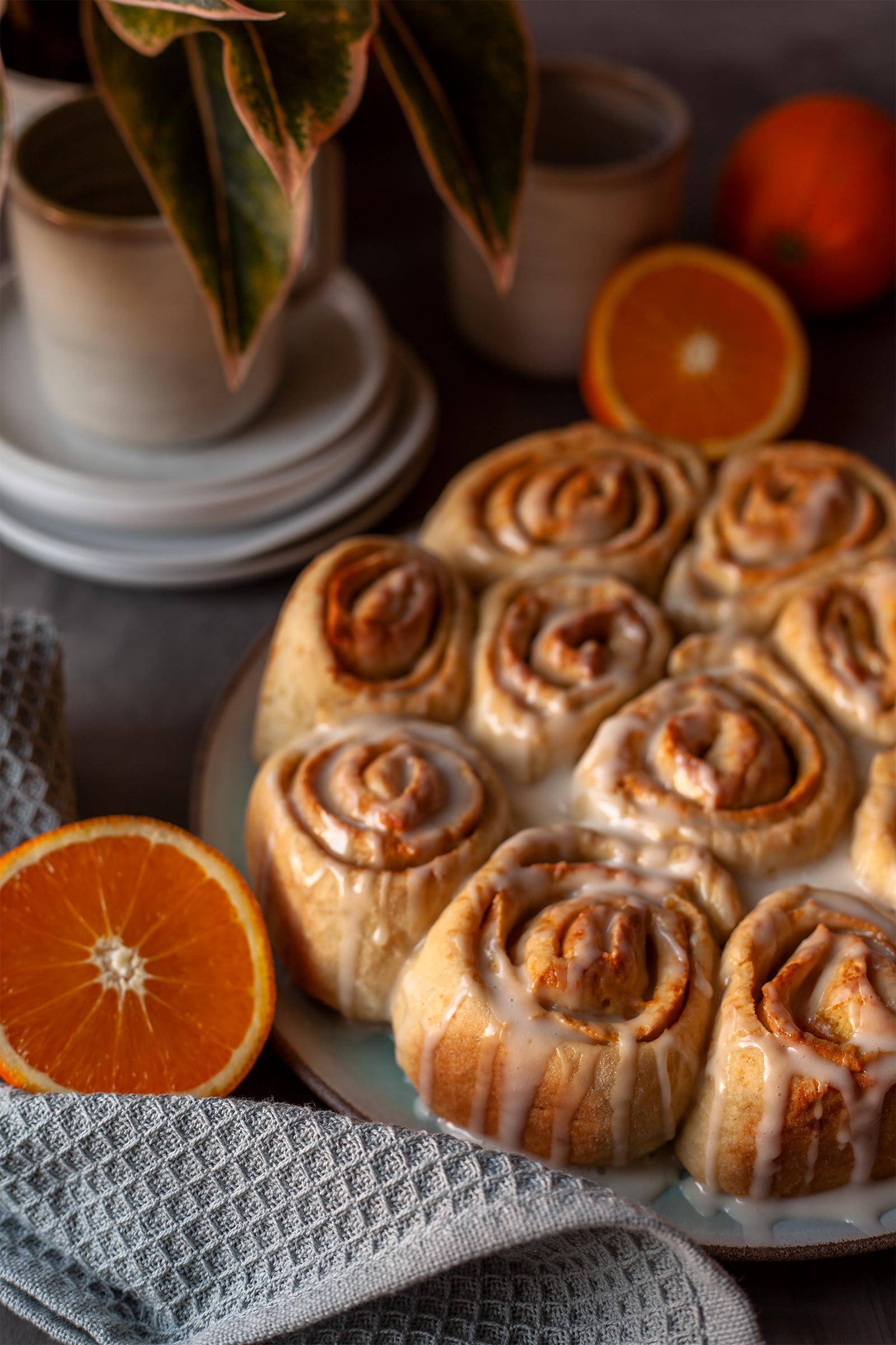 Orangen hefeschnecken rezept