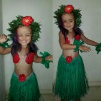 Zombie's Halloween costume! Mostly homemade- based on hula girl Lilo from lilo and stich.