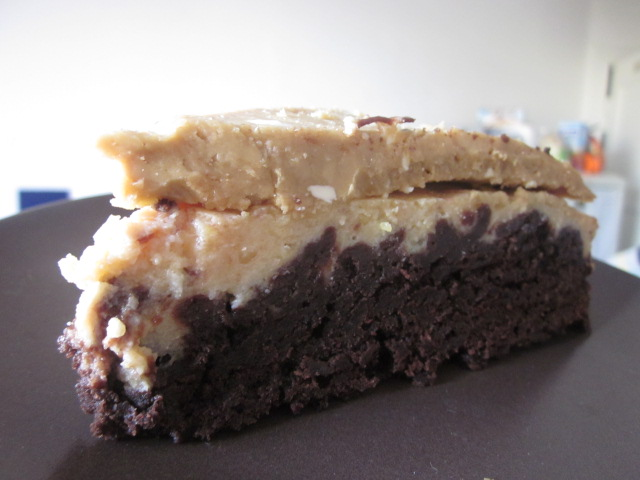 Brownie Cheesecake With Coffee Frosting