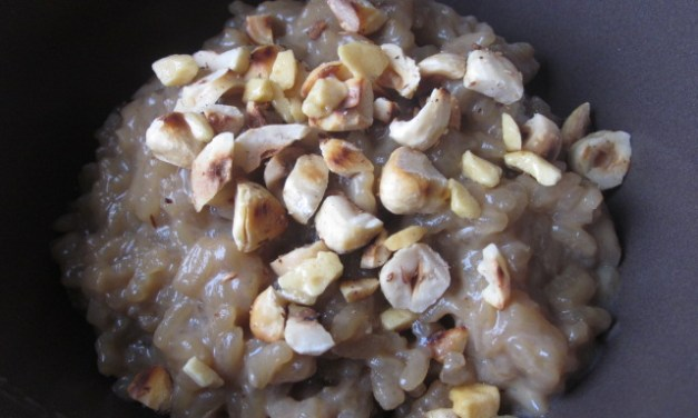 Butterscotch Rice Pudding with Toasted Hazelnuts