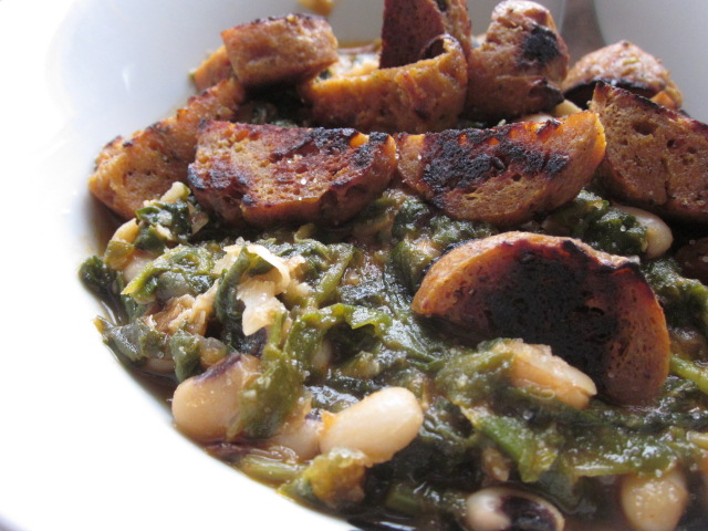 Appetite For Reduction: Hottie Black-Eyed Peas & Greens, Chickpea Piccata, Caulipots and Caesar Chavez Dressing