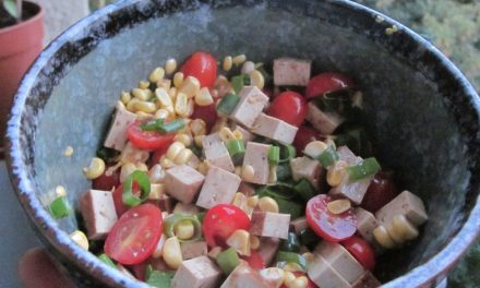 Balcony Garden Bounty and My Fresh Smoked Tofu Urban Gardening Salad