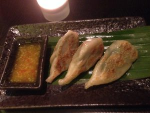 Ping Pong Dubai Fried Veggie Dumplings with Mango Sauce | Vegan Nom Noms