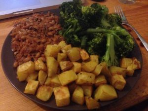Red Red Stew with Potatoes and Broccoli | Vegan Nom Noms