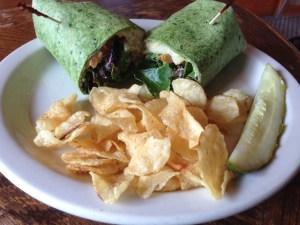 Sven's Cafe Vegan Hummus Wrap | Vegan Nom Noms