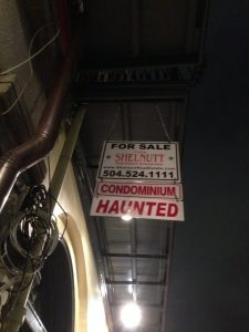 New Orleans Haunted Sign | Vegan Nom Noms