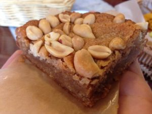 Breads on Oak Peanut Butter Blondie New Orleans | Vegan Nom Noms