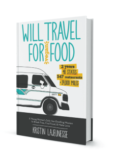 Will Travel for Vegan Food Book Cover - Vegan Nom Noms