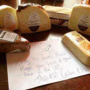 Vtopian Artisan Vegan Cheese Shipment & Letter - Vegan Nom Noms