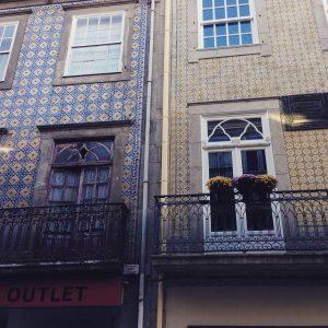 Porto Portugal Tile Buildings - Vegan Nom Noms