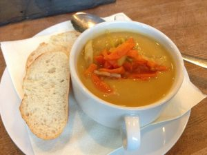 Grooßer Winterberg Hotel Vegan Sweet Potato Soup - Vegan Nom Noms
