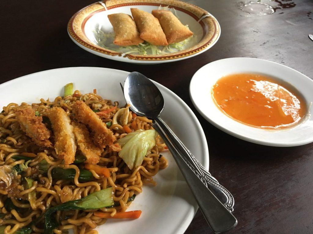 Siboghana Waroeng Ubud - Vegan Bali Nasi Goreng and Spring Rolls