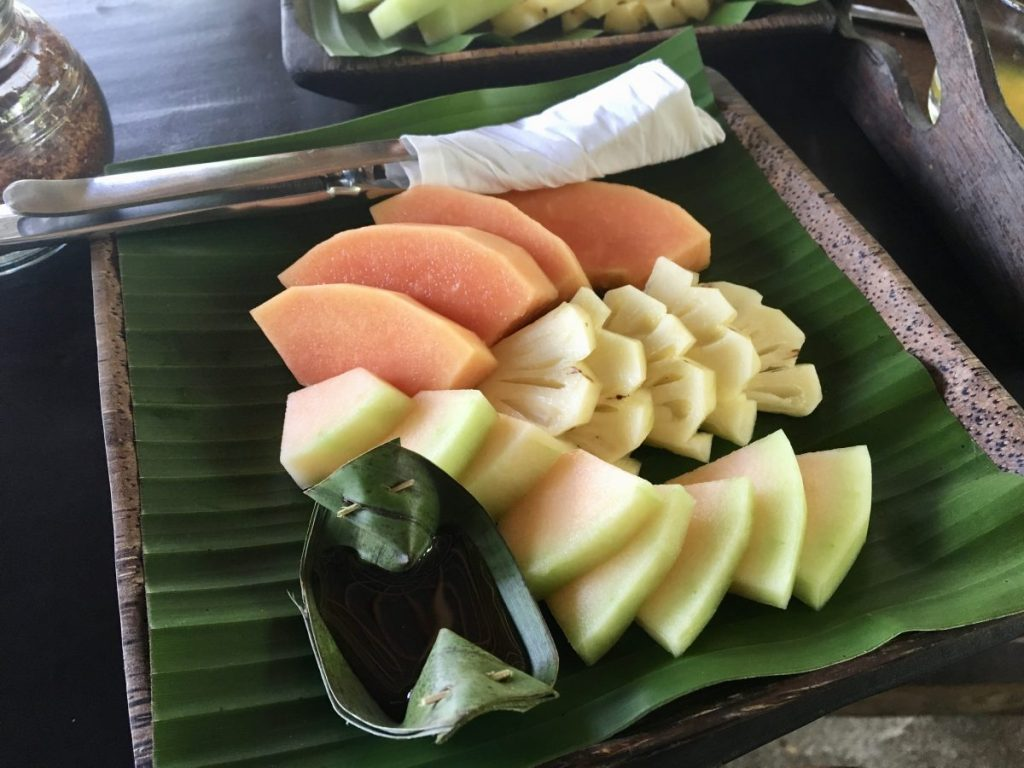 Ubud Cycling Tour Fruit Salad Breakfast