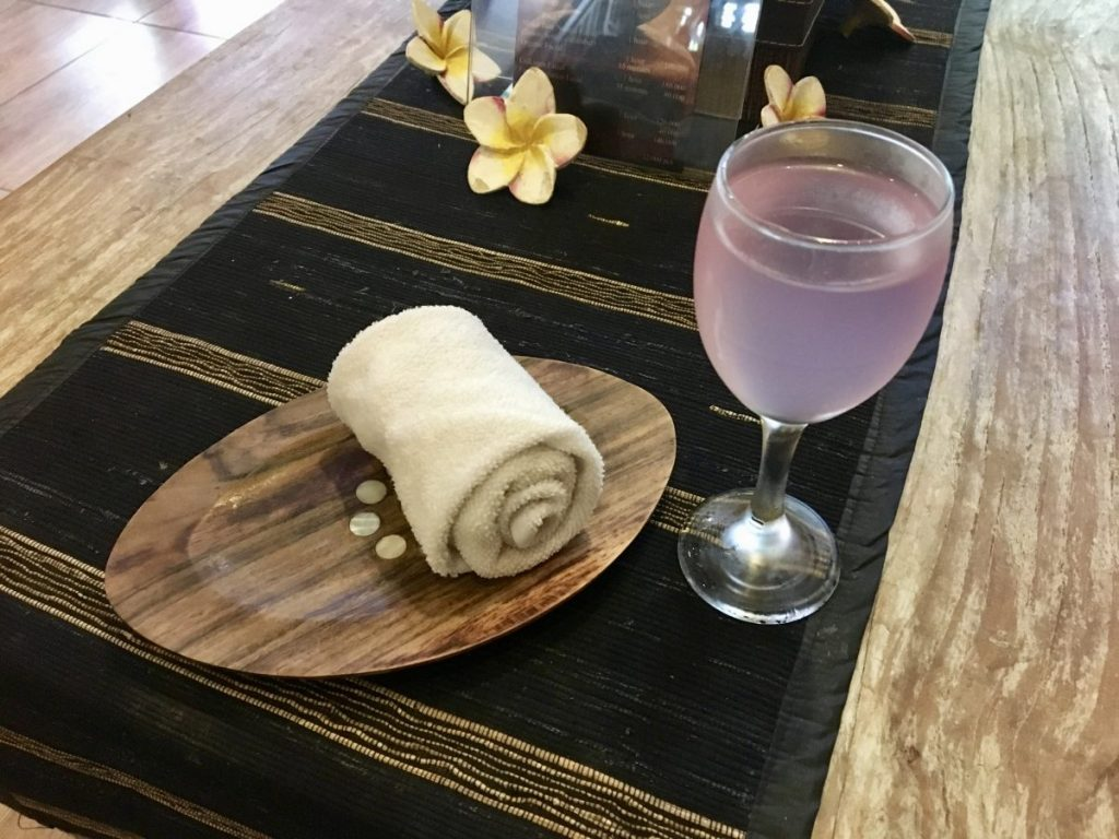 Midas Spa Ubud Welcome Drink