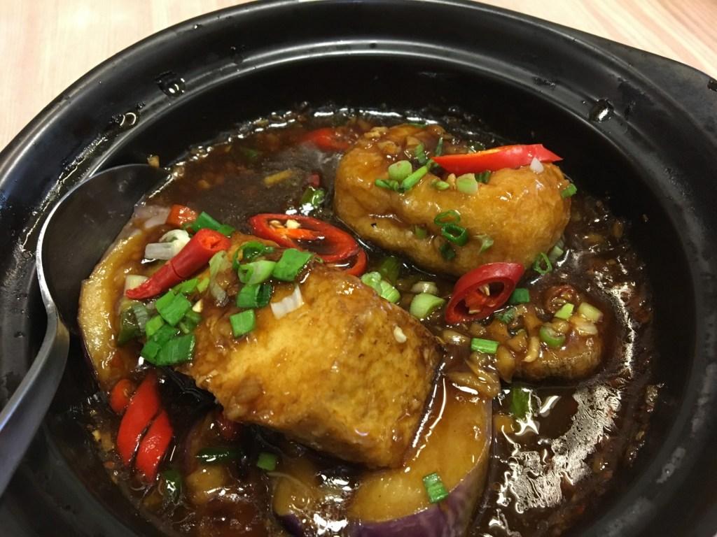 tofu village georgetown vegan tofu claypot