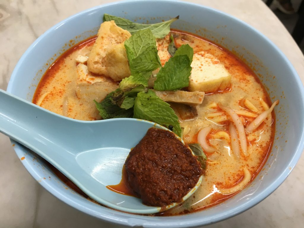 vegan penang ee beng vegetarian restaurant - curry mee soup